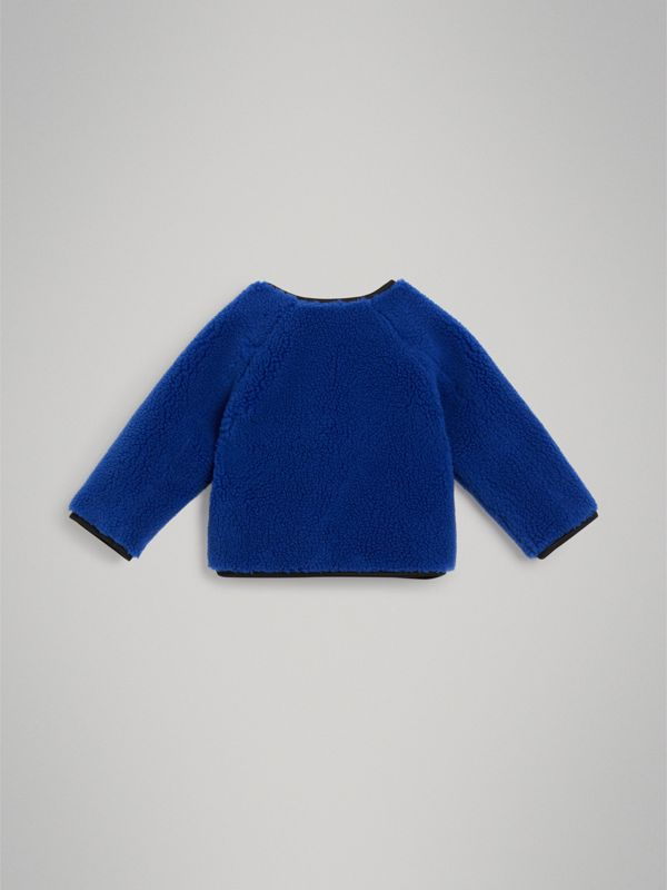 Faux Shearling Jacket in Cobalt Blue - Children | Burberry United Kingdom - cell image 3