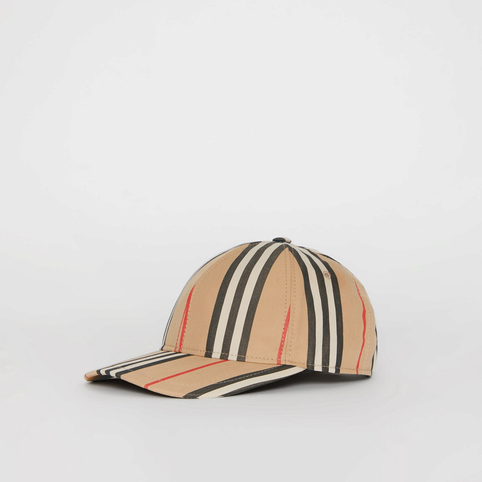Icon Stripe Baseball Cap in Archive Beige | Burberry United Kingdom - gallery image 4