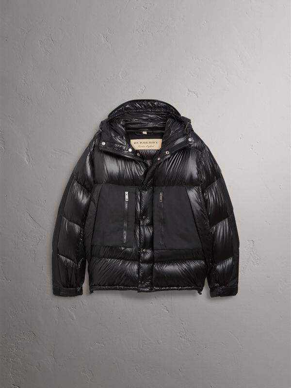 Oversized Down-filled Hooded Puffer Jacket in Black - Men | Burberry United Kingdom - cell image 3