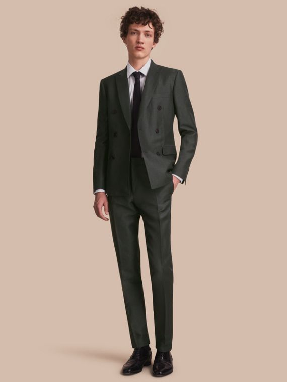 Slim Fit Travel Tailoring Linen Blend Suit - Men | Burberry Singapore