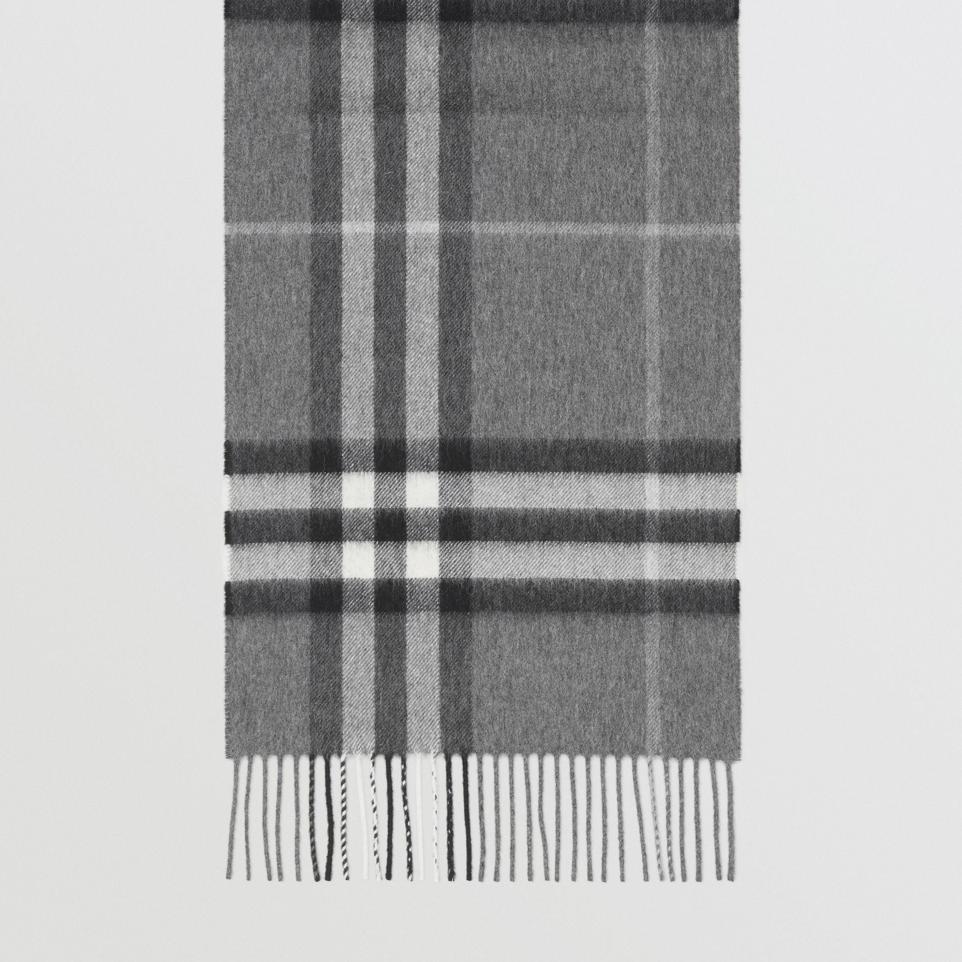 The Classic Check Cashmere Scarf in Grey | Burberry - gallery image 4