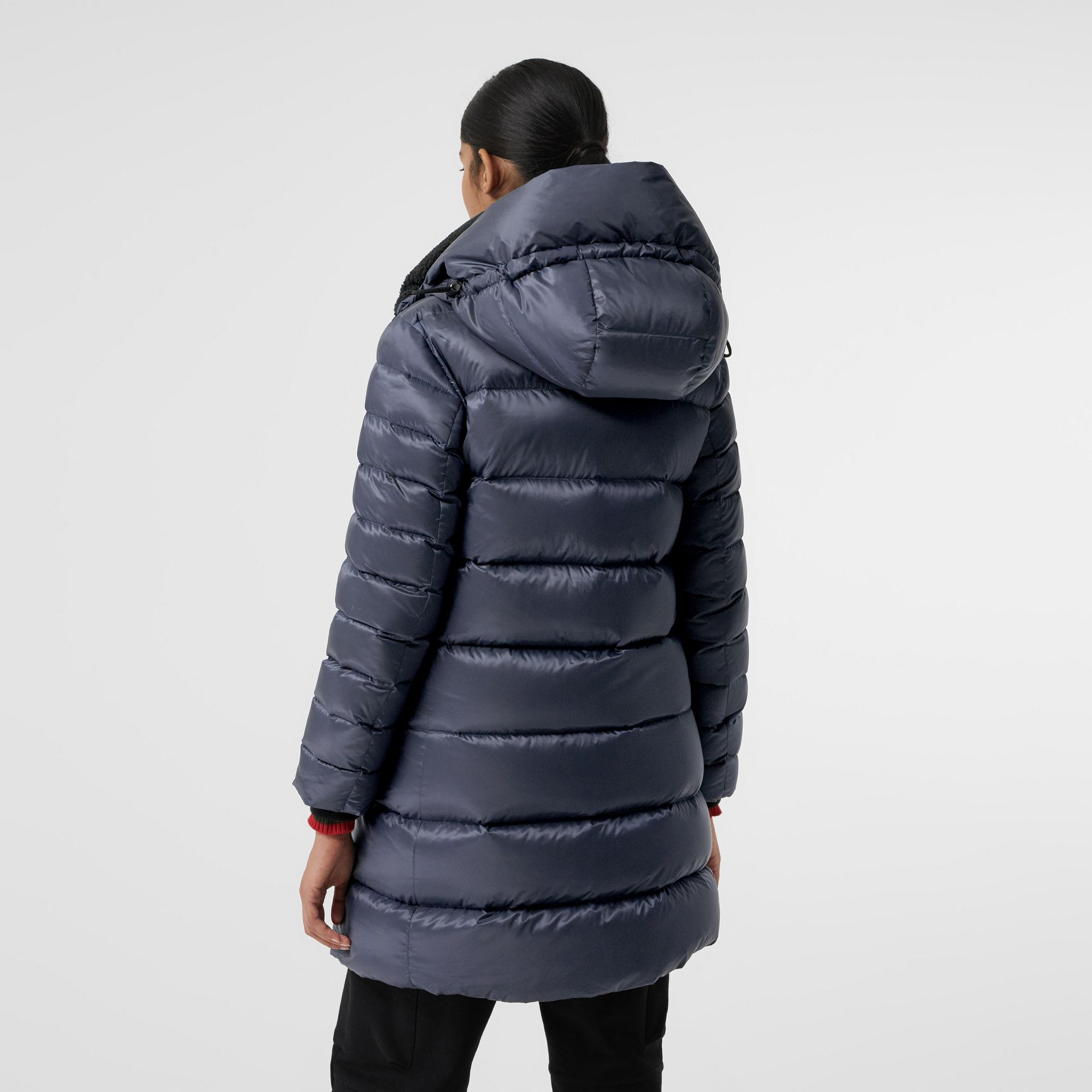 Down-filled Hooded Puffer Coat in Navy - Women | Burberry - gallery image 2
