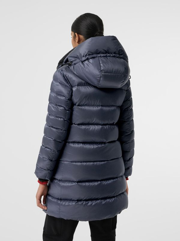 Down-filled Hooded Puffer Coat in Navy - Women | Burberry - cell image 2