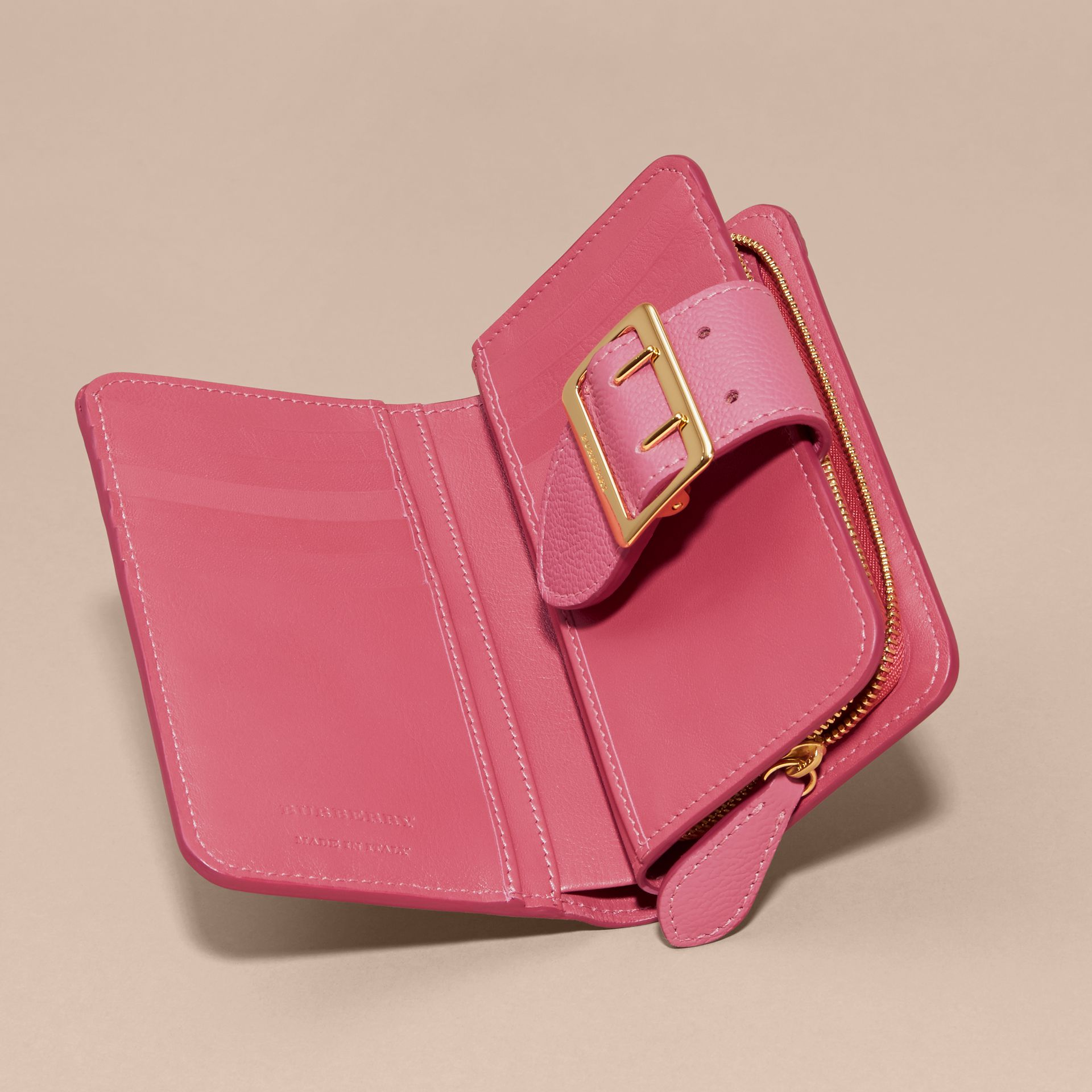 Pink azalea Buckle Detail Grainy Leather Wallet Pink Azalea - gallery image 5