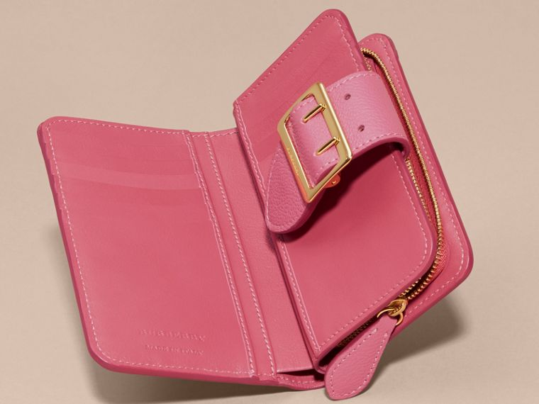Pink azalea Buckle Detail Grainy Leather Wallet Pink Azalea - cell image 4