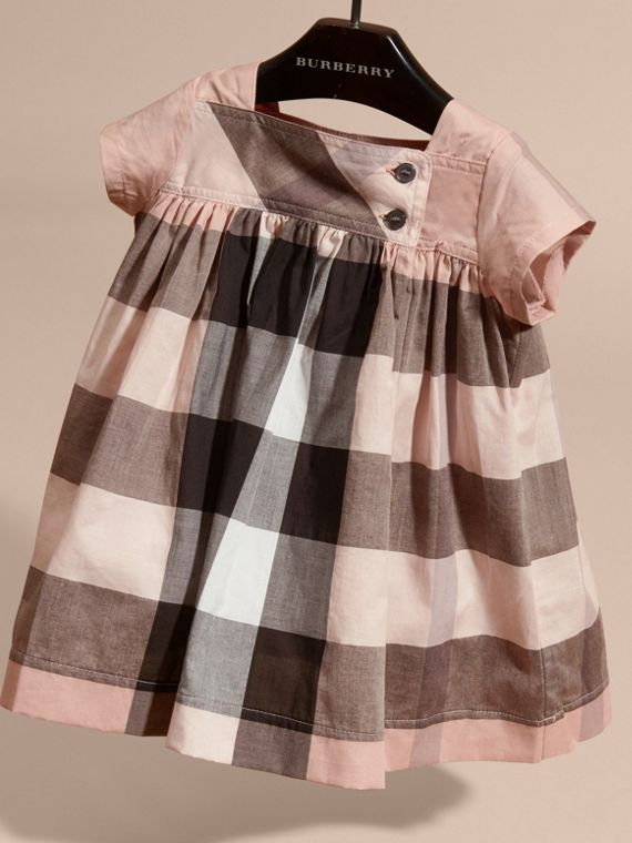 Antique pink Check Cotton Dress - cell image 2