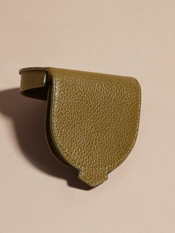Olive green Grainy Leather Coin Case Olive Green - cell image 3