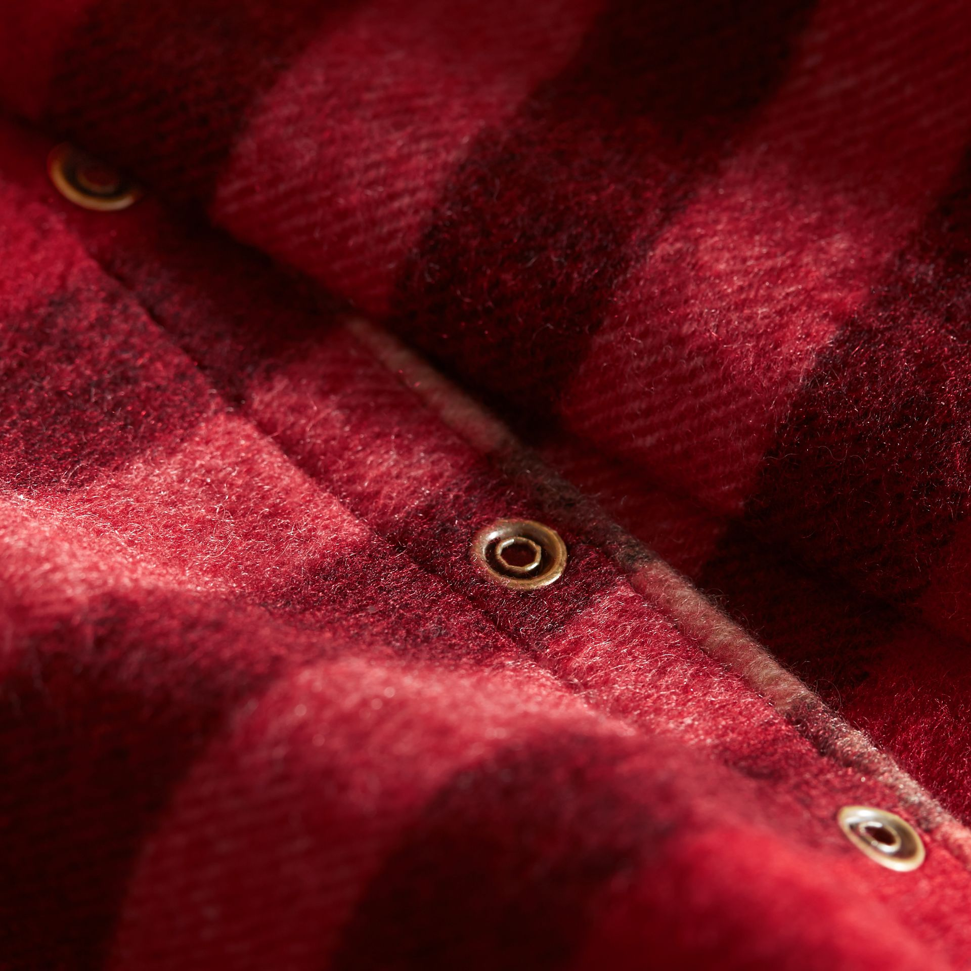 Exploded Check Cashmere Snood in Parade Red - Boy | Burberry United States - gallery image 2