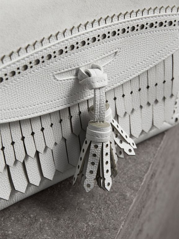 The Medium Banner with Brogue Detail in Chalk White - Women | Burberry United Kingdom - cell image 1
