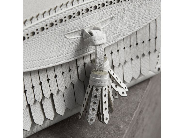 The Medium Banner with Brogue Detail in Chalk White - Women | Burberry United States - cell image 1