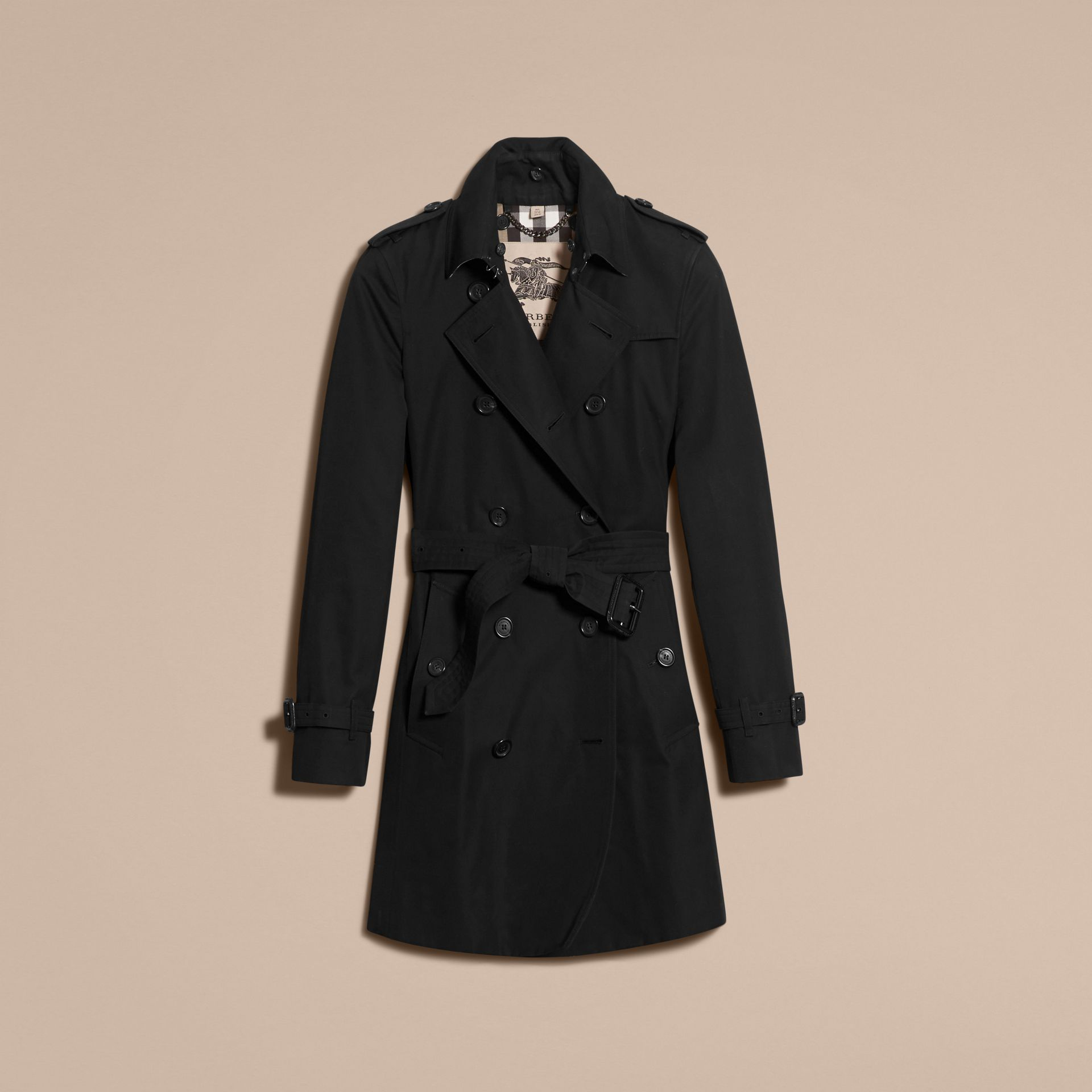 Black The Kensington – Mid-Length Heritage Trench Coat Black - gallery image 4
