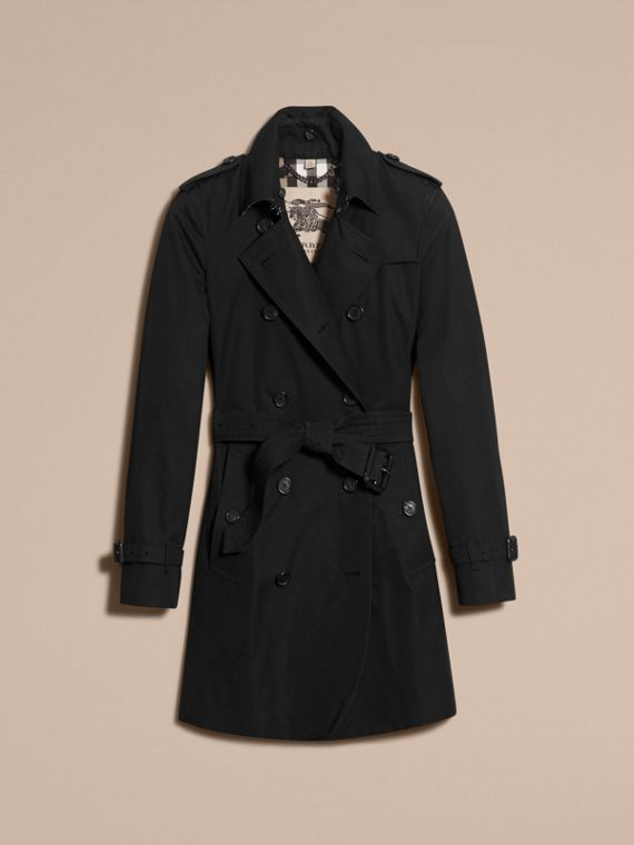 Black The Kensington – Mid-Length Heritage Trench Coat Black - cell image 3