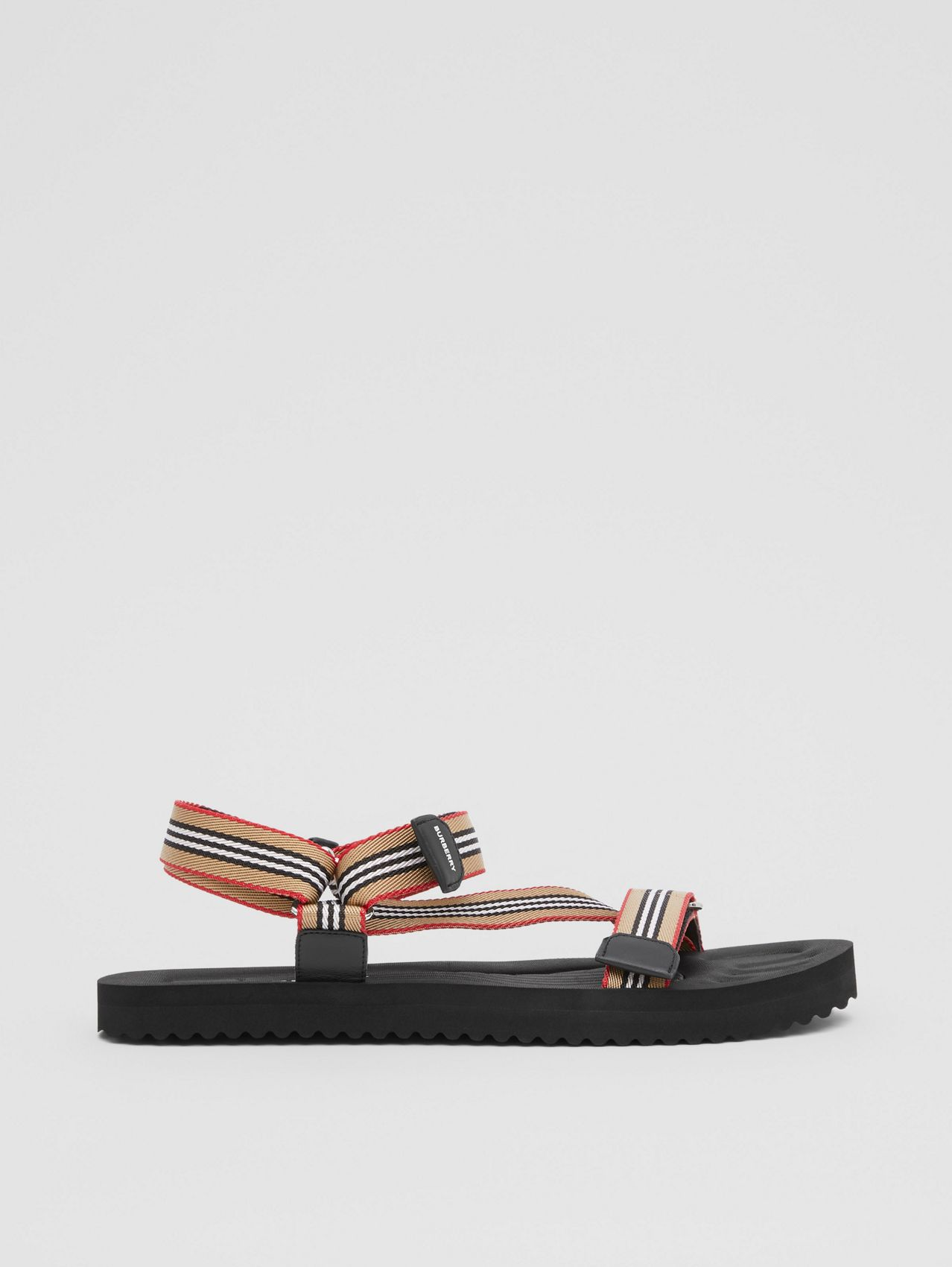 Icon Stripe Sandals in Archive Beige