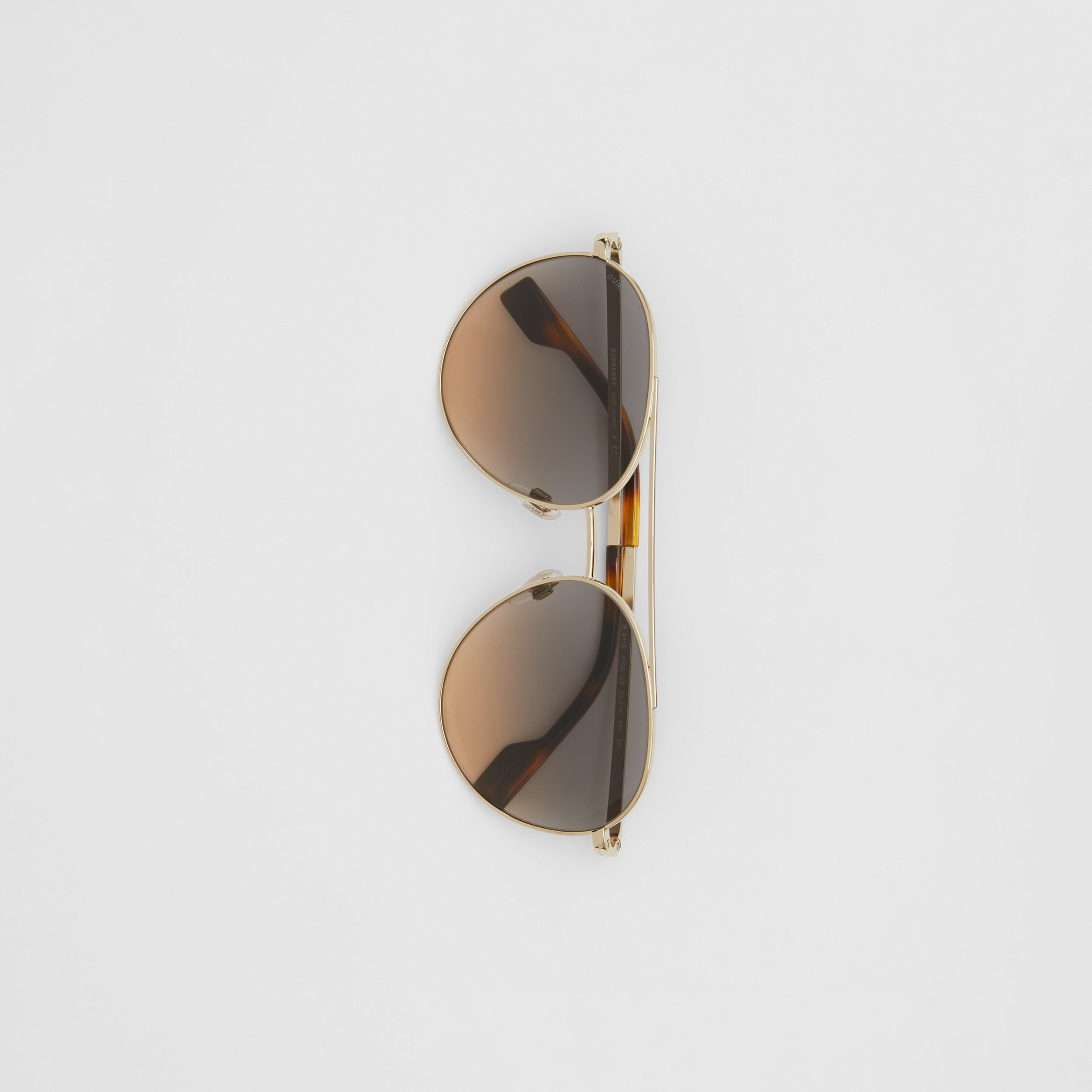 Pilot Sunglasses in Brown - Women | Burberry Singapore - 4