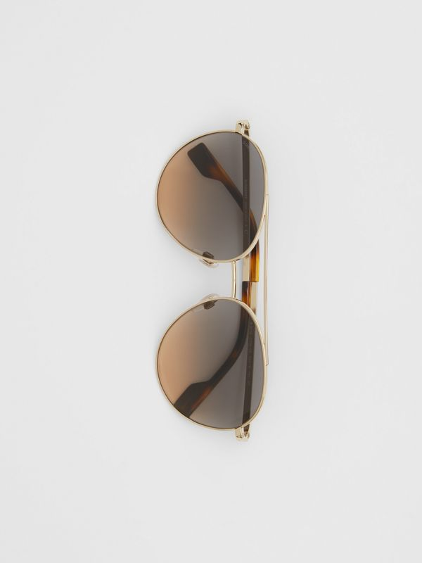 Pilot Sunglasses in Brown - Women | Burberry United Kingdom - cell image 3