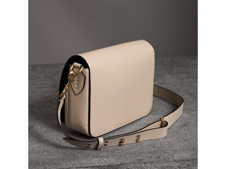 The Square Satchel in Leather in Stone - Women | Burberry United Kingdom - cell image 4