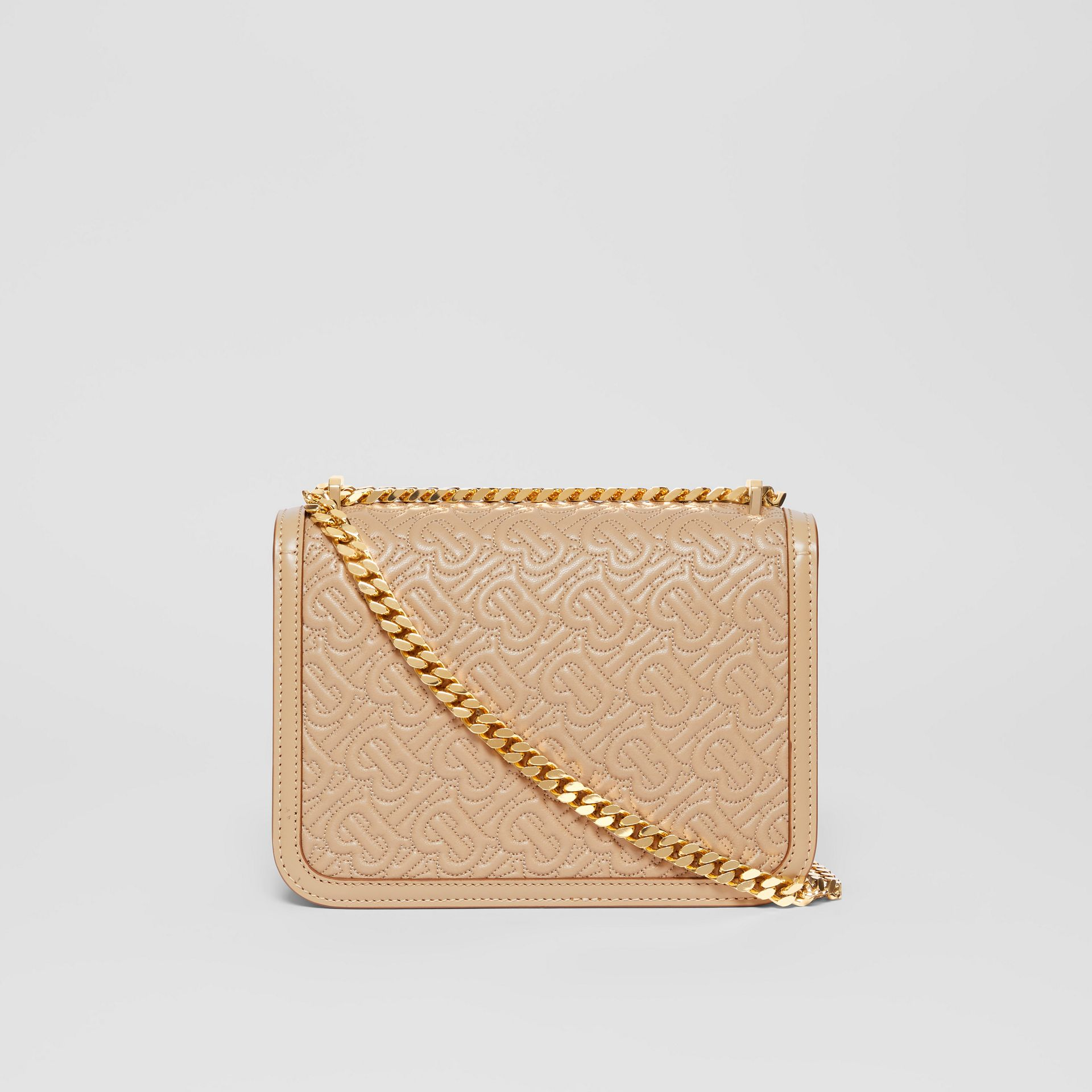 Small Quilted Monogram Lambskin TB Bag in Honey - Women | Burberry - gallery image 7