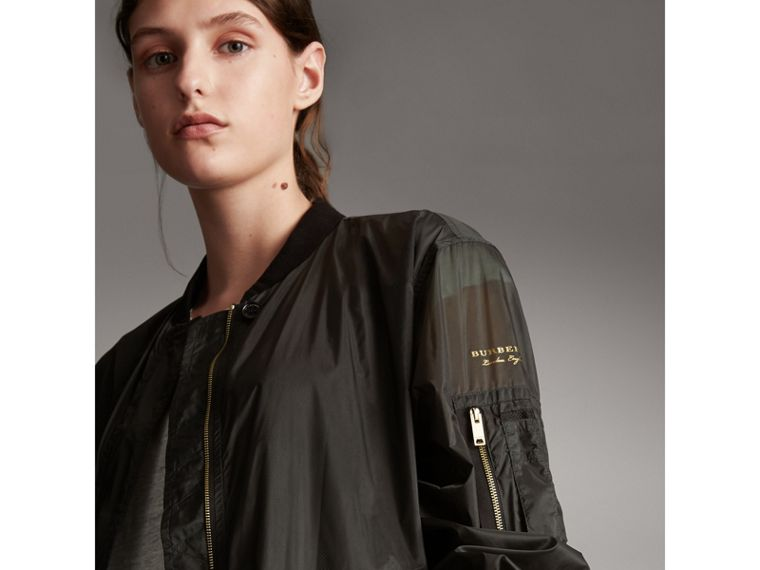 Lightweight Bomber Jacket in Vintage Green - Women | Burberry - cell image 1