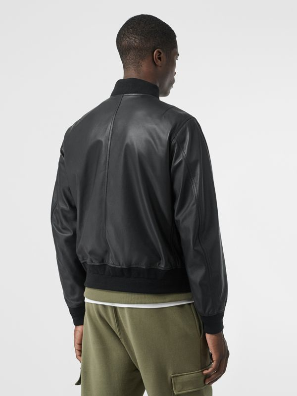 Lambskin Bomber Jacket in Black - Men | Burberry - cell image 2