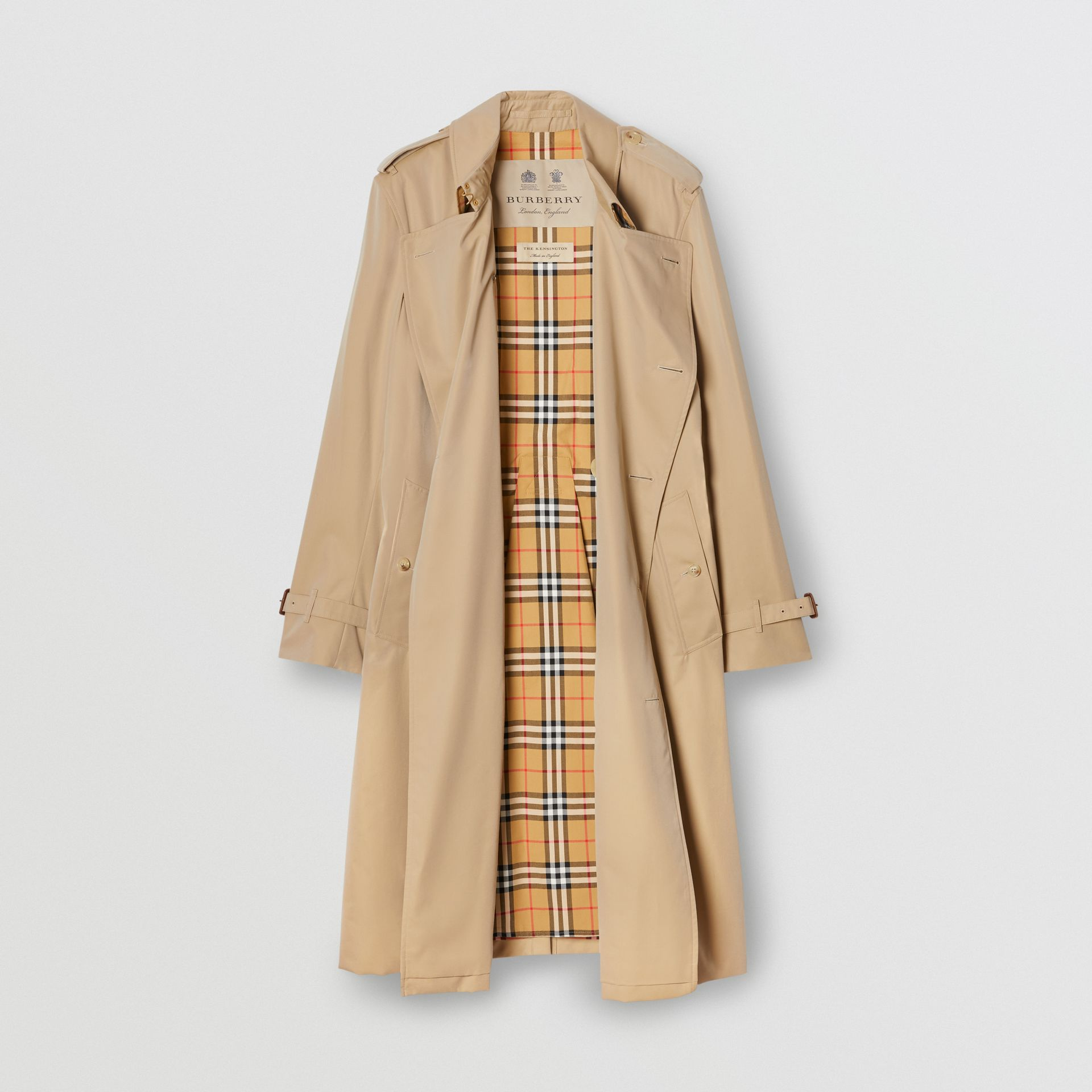 The Long Kensington Heritage Trench Coat in Honey - Men | Burberry Hong Kong S.A.R - gallery image 8