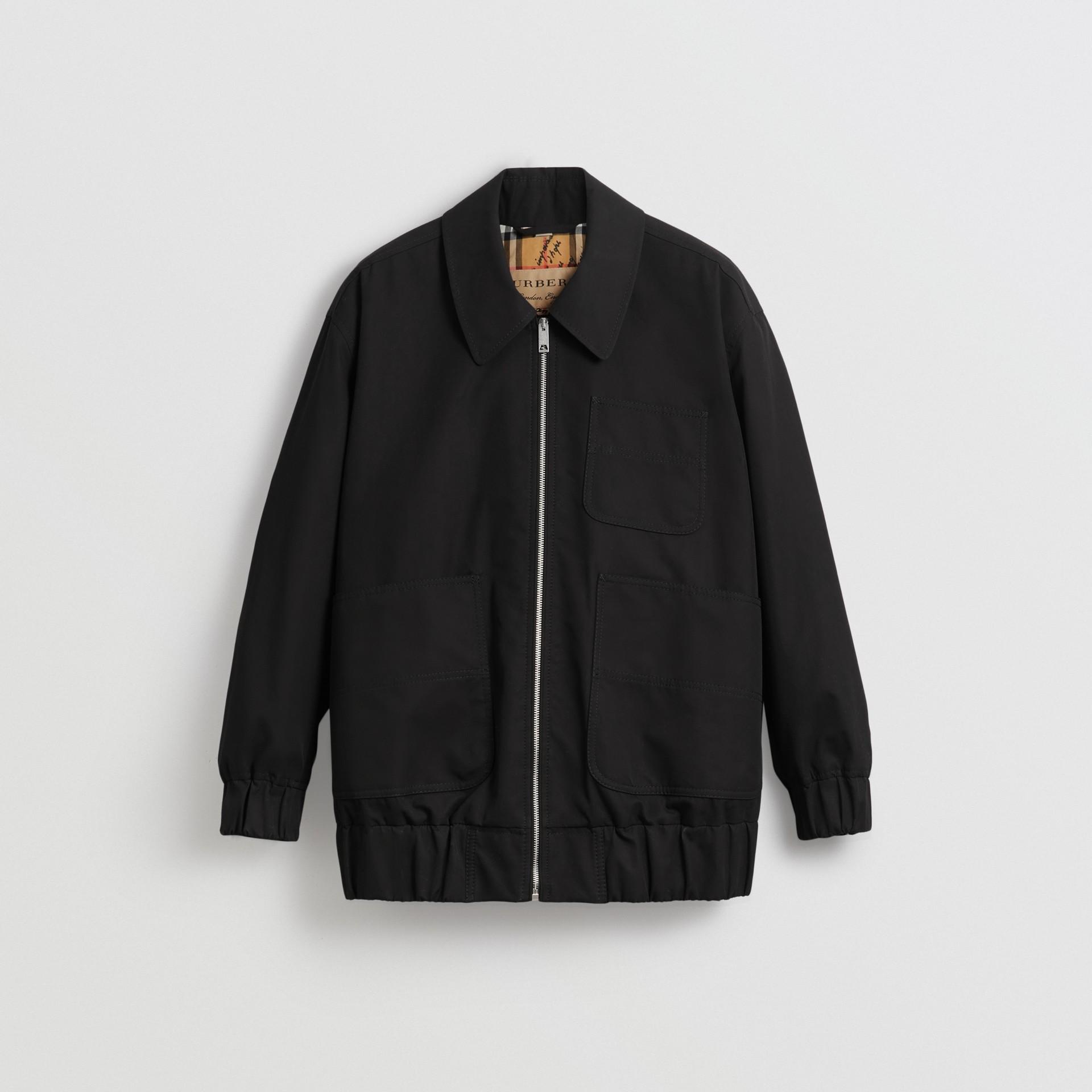 Tropical Gabardine Harrington Jacket in Black - Women | Burberry United Kingdom - gallery image 3