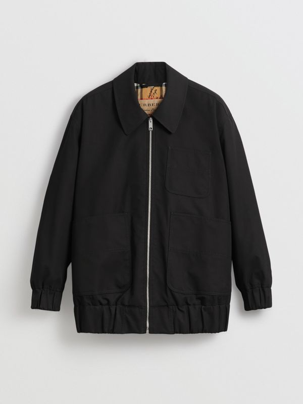 Tropical Gabardine Harrington Jacket in Black - Women | Burberry - cell image 3
