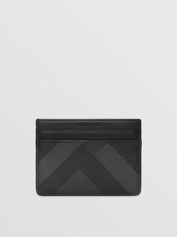 London Check Card Case in Charcoal/black - Men | Burberry United Kingdom - cell image 2