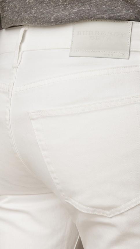 New white Slim Fit White Jeans - Image 4