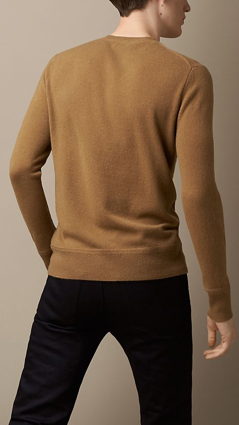 Mid camel Heritage Detail Cashmere Sweater Mid Camel - Image 2