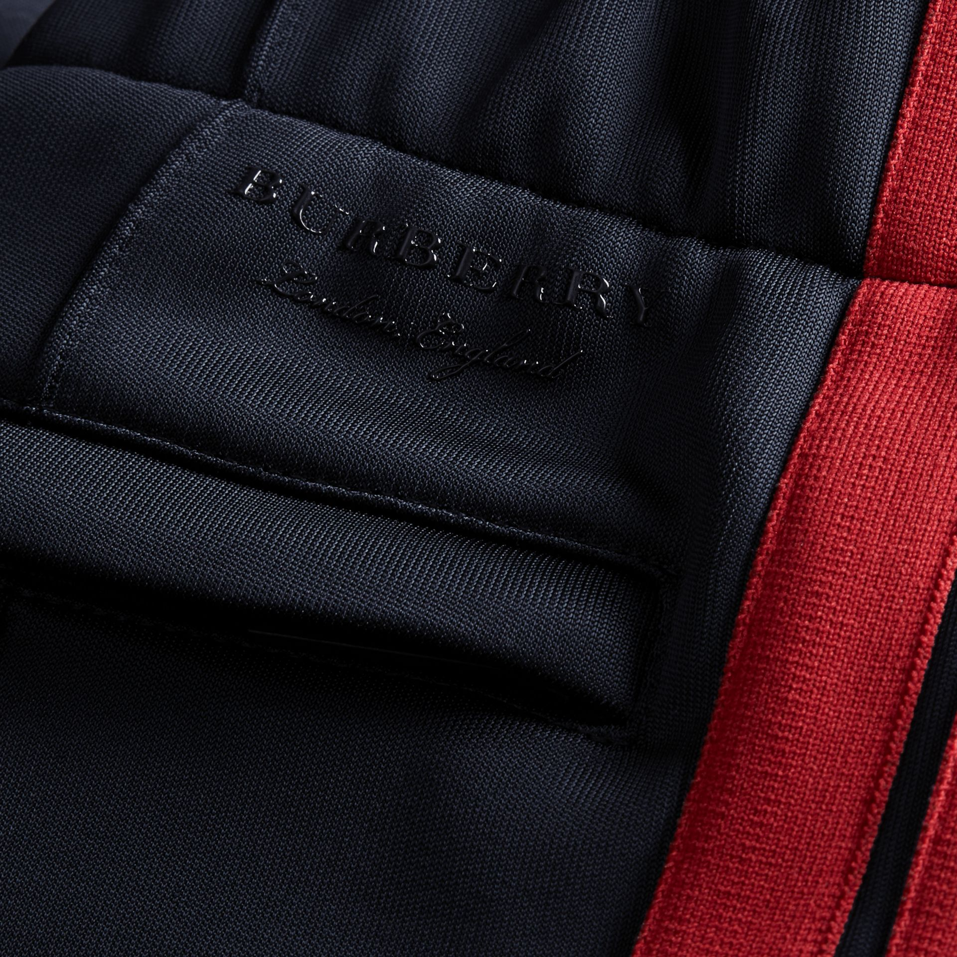Navy Contrast Stripe Technical Track Pants - gallery image 2