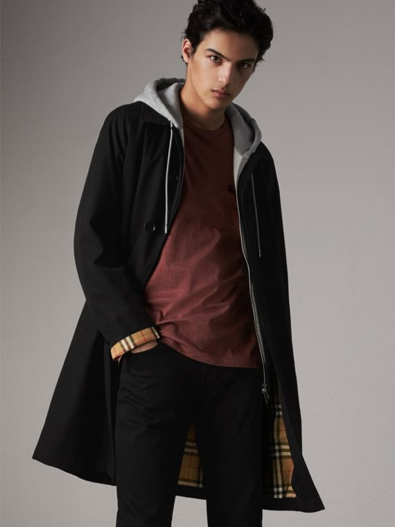 The Camden – Mid-length Car Coat in Black - Men | Burberry