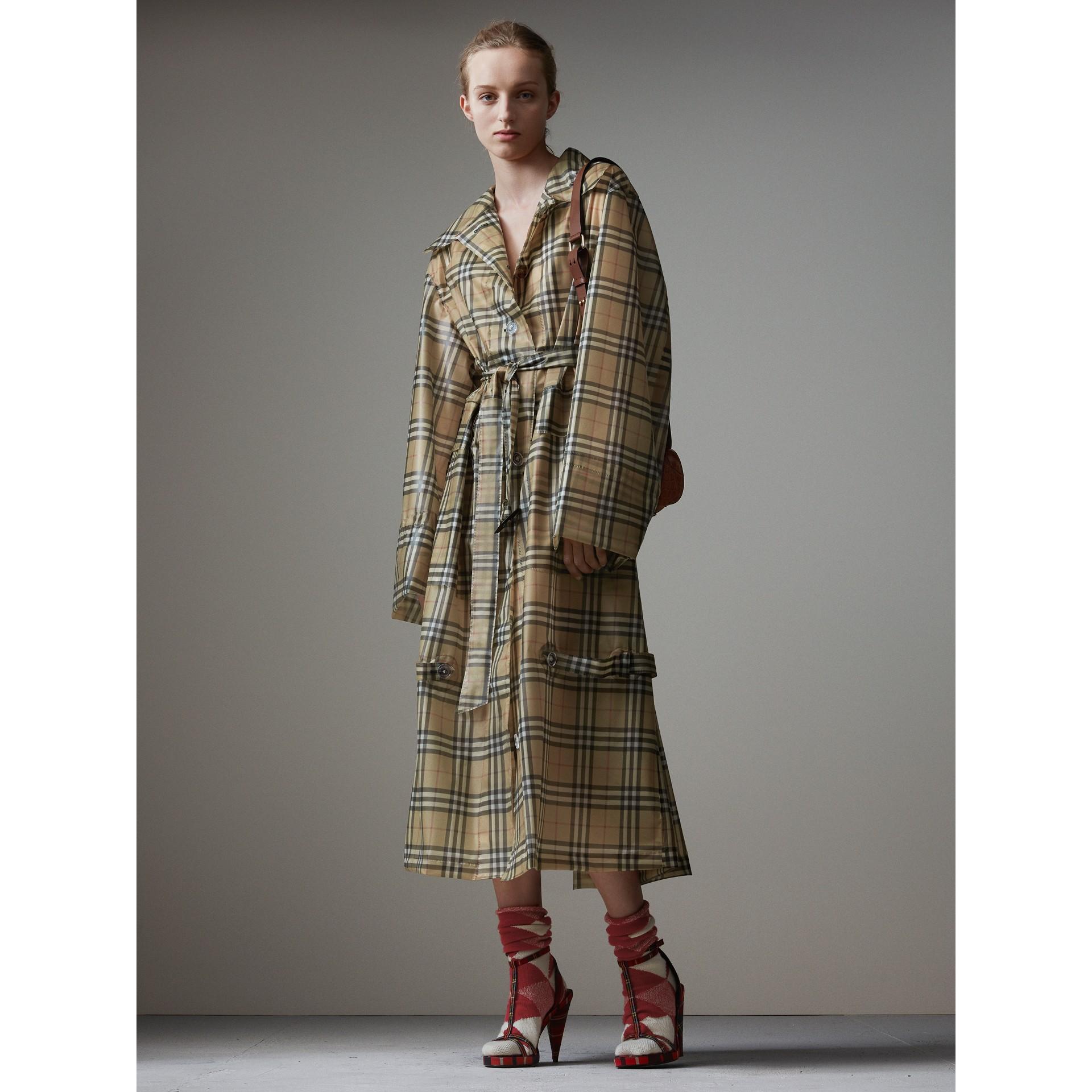 Bolsa Pocket Satchel de couro de crocodilo - Mulheres | Burberry - galeria de imagens 7