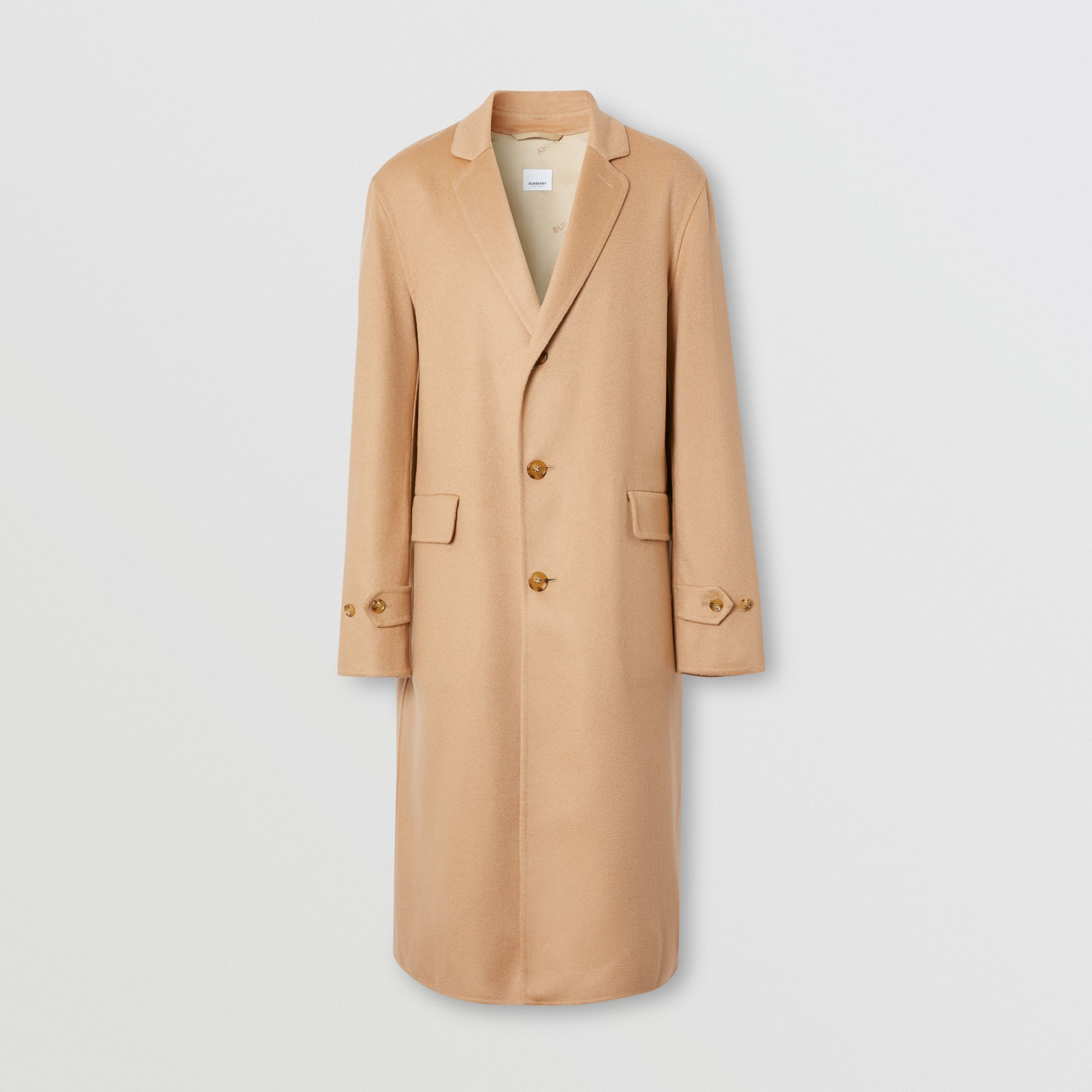 Double-faced Regenerated Cashmere Lab Coat in Camel - Men | Burberry - 4