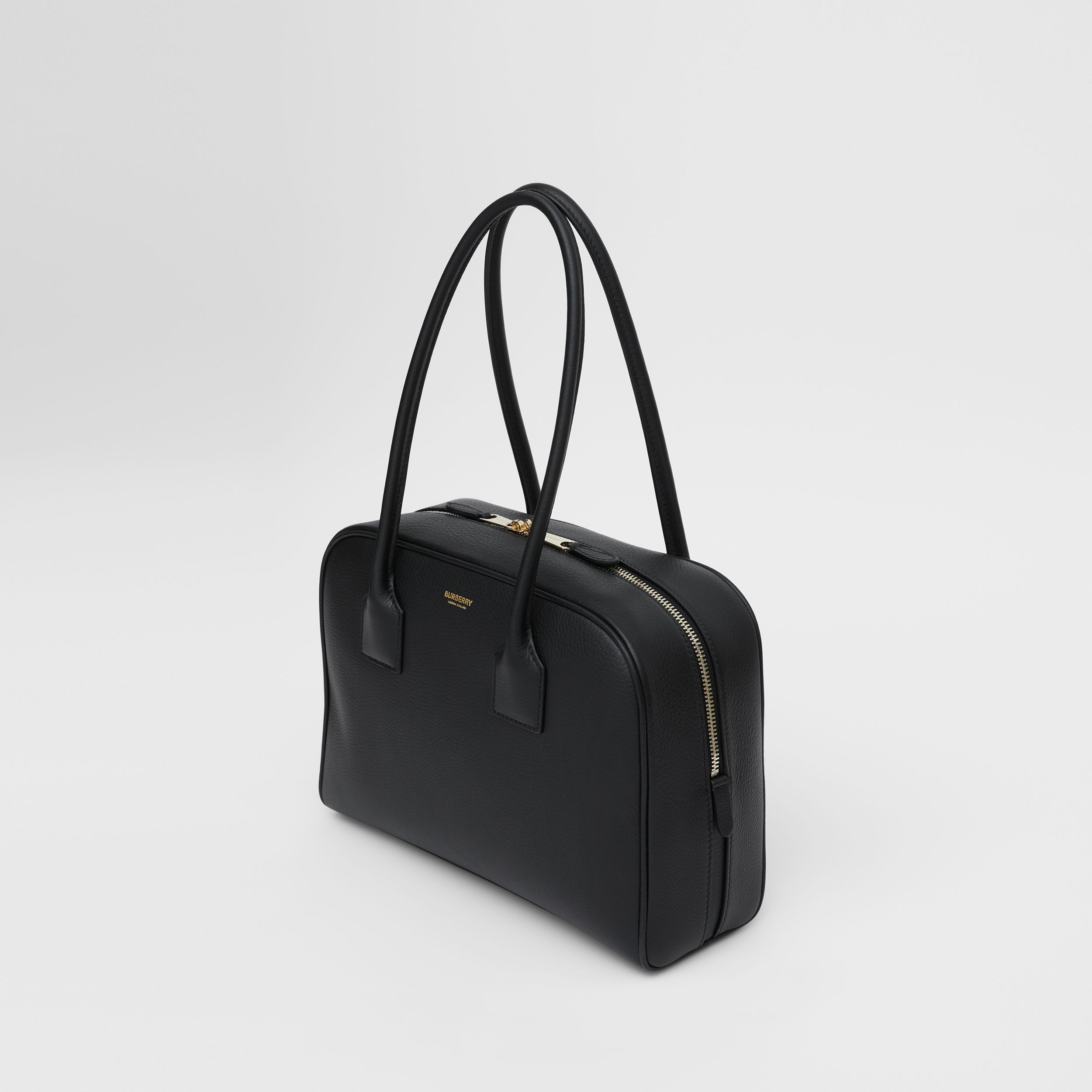 Medium Leather Half Cube Bag in Black - Women | Burberry - 4