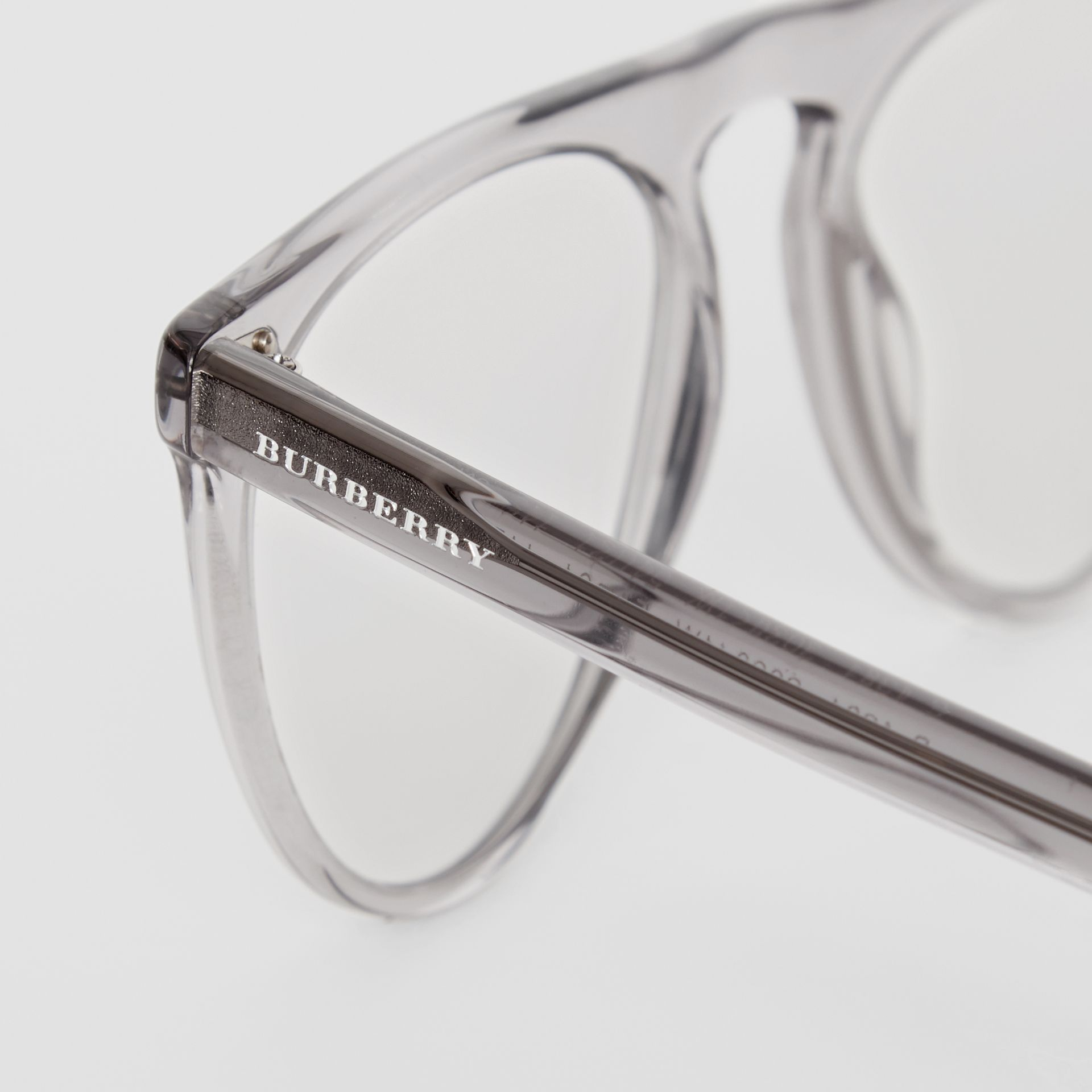 Keyhole D-shaped Optical Frames in Grey - Men | Burberry Singapore - gallery image 1
