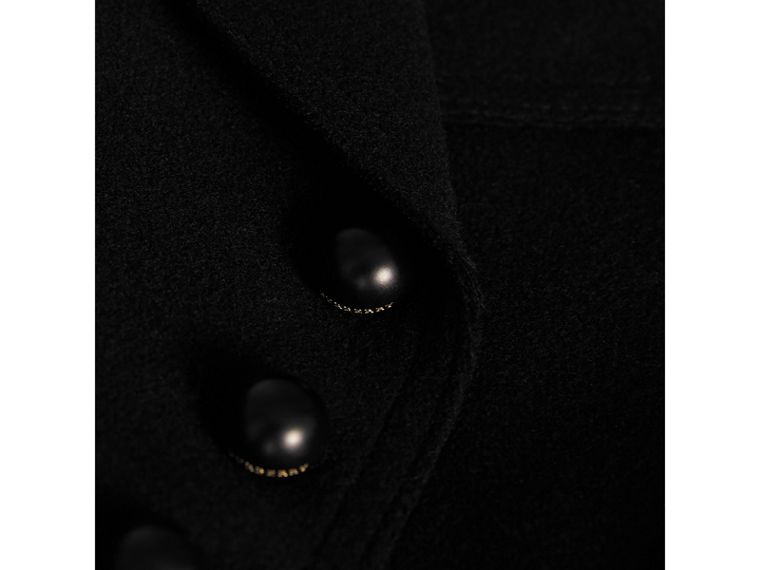 Wool Blend Peplum Jacket in Black - Girl | Burberry Australia - cell image 1