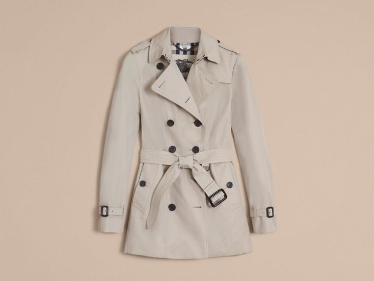Stone The Sandringham – Short Heritage Trench Coat Stone - cell image 4