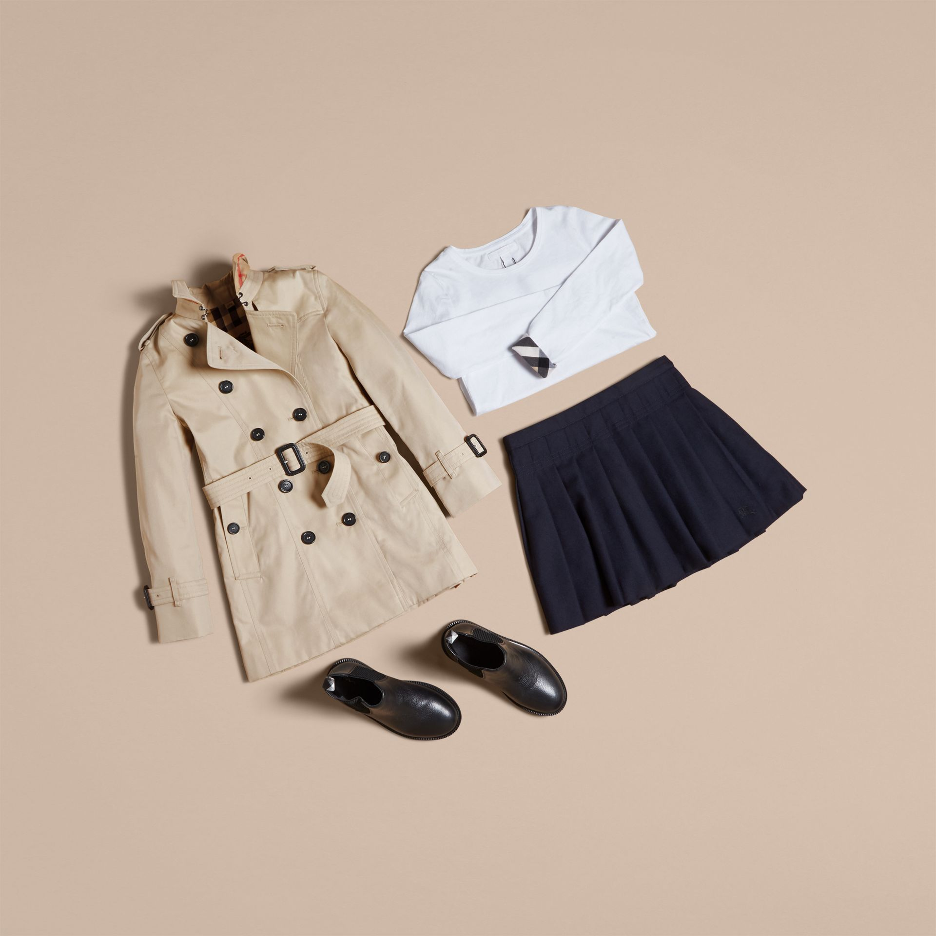 The Sandringham - Trench coat Heritage - Bambina | Burberry - immagine della galleria 5