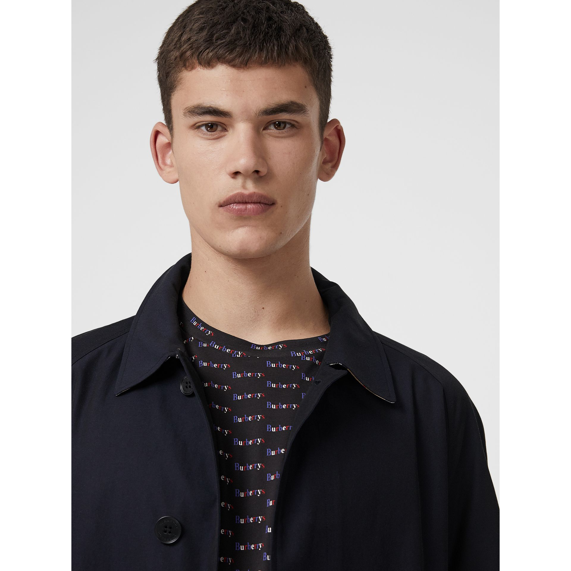 Car Coat The Brighton (Bleu Carbone) - Homme | Burberry - photo de la galerie 4