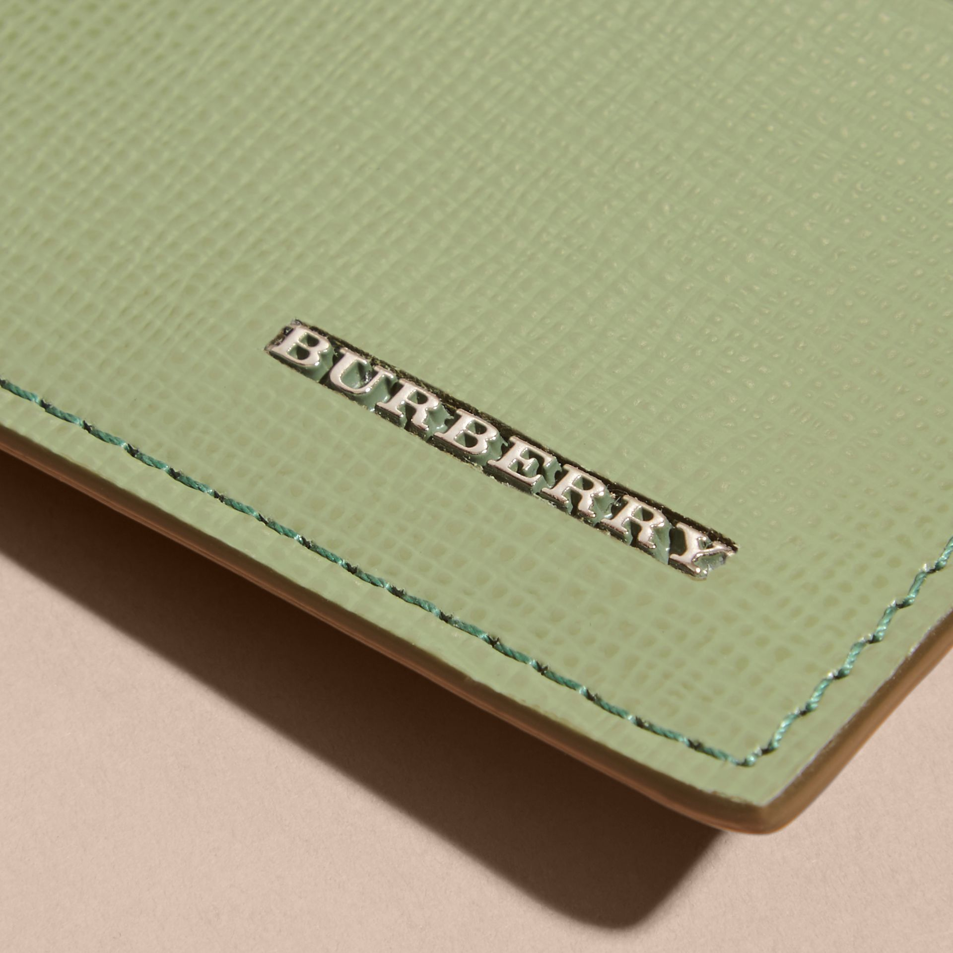 London Leather Card Case in Antique Green - gallery image 2
