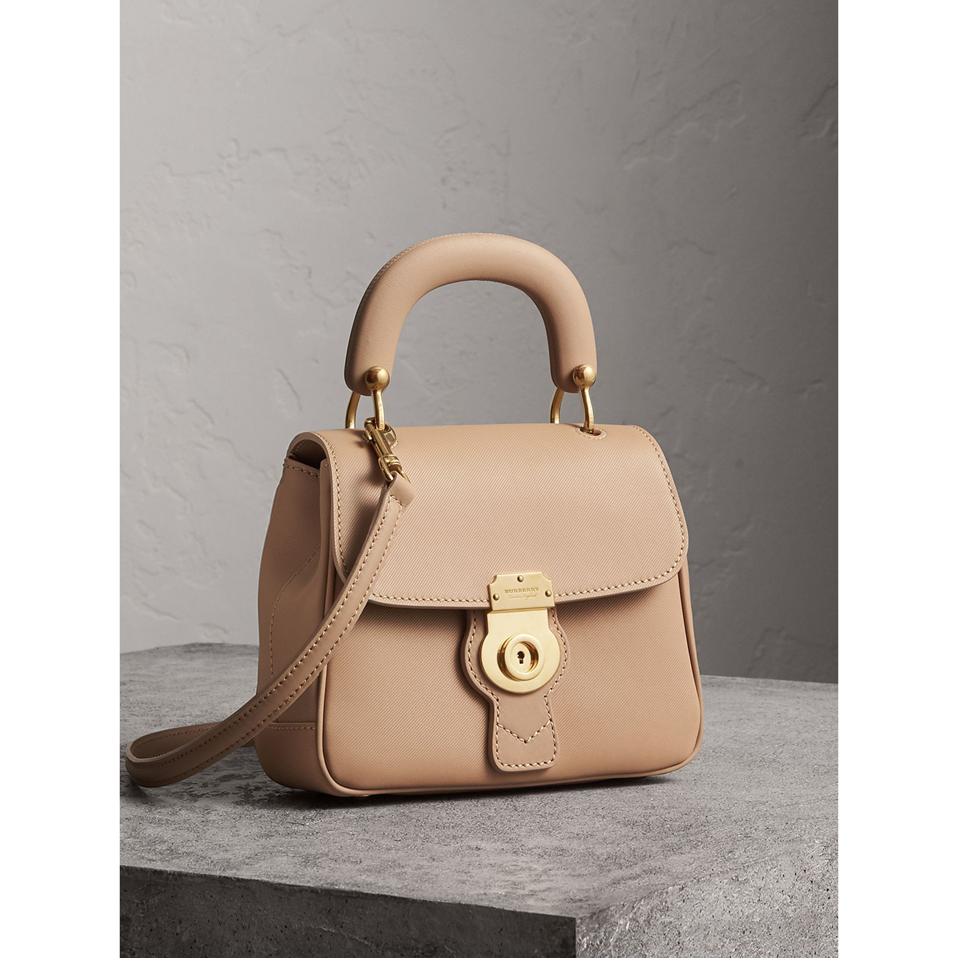 The Small DK88 Top Handle Bag in Honey - Women | Burberry Australia - gallery image 6