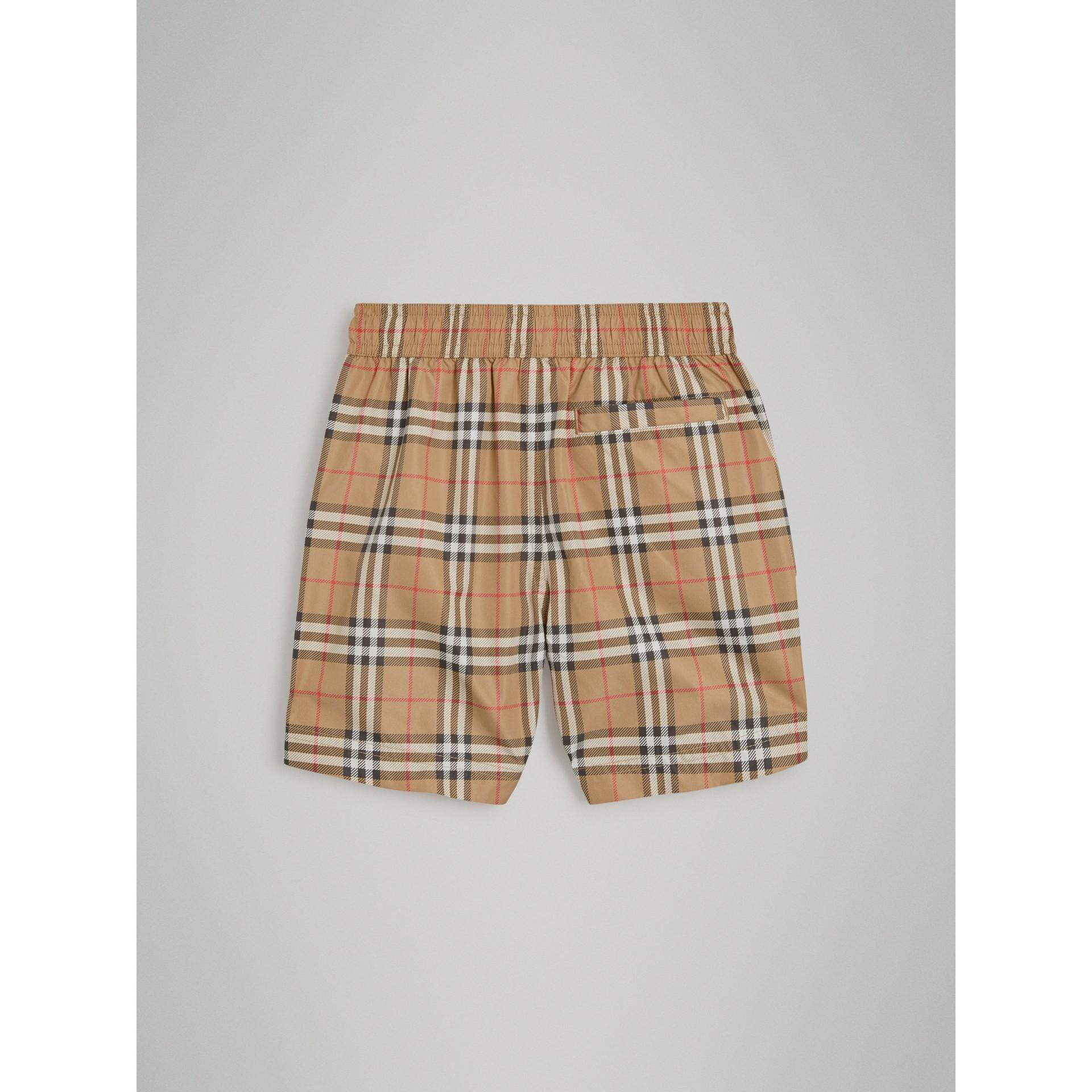 Schwimmshorts mit Vintage Check-Muster (Camelfarben) - Jungen | Burberry - Galerie-Bild 3