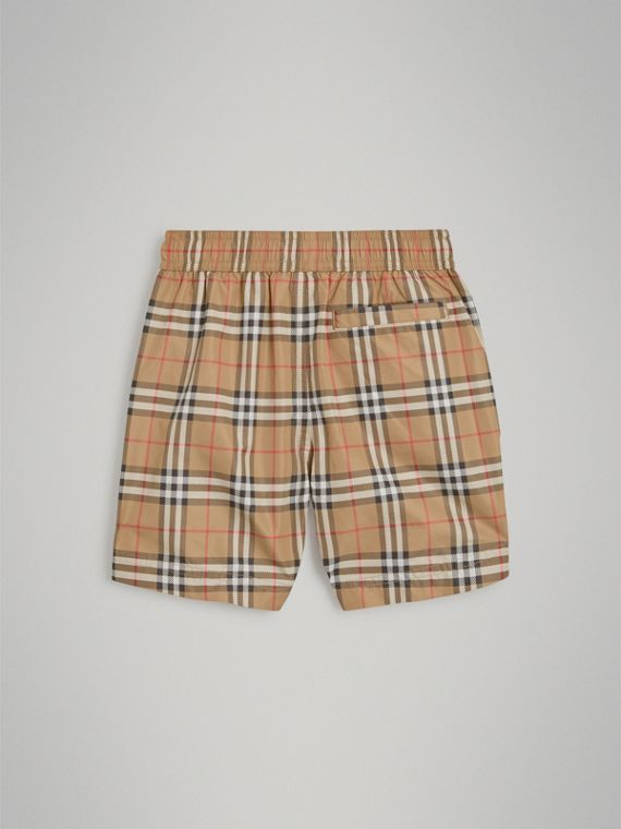 Vintage Check Swim Shorts in Camel - Boy | Burberry Canada - cell image 3