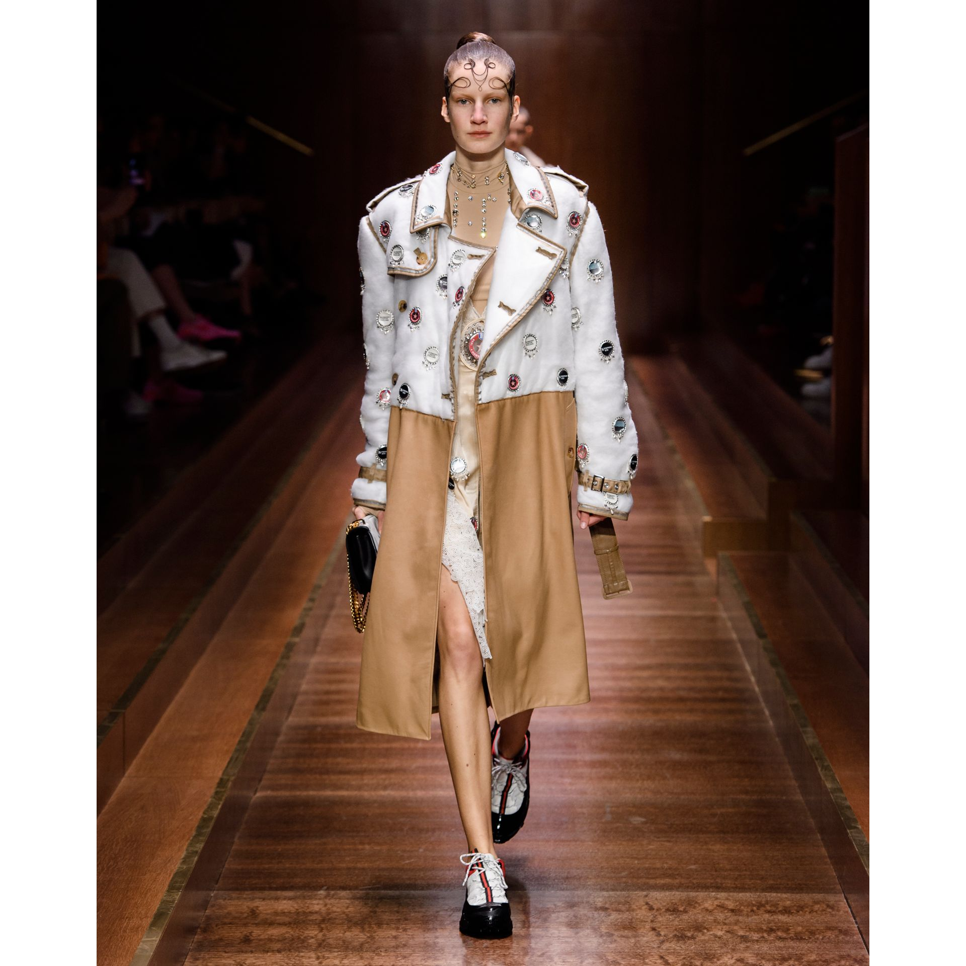Faux Fur Tail Charm in Camel | Burberry - gallery image 2
