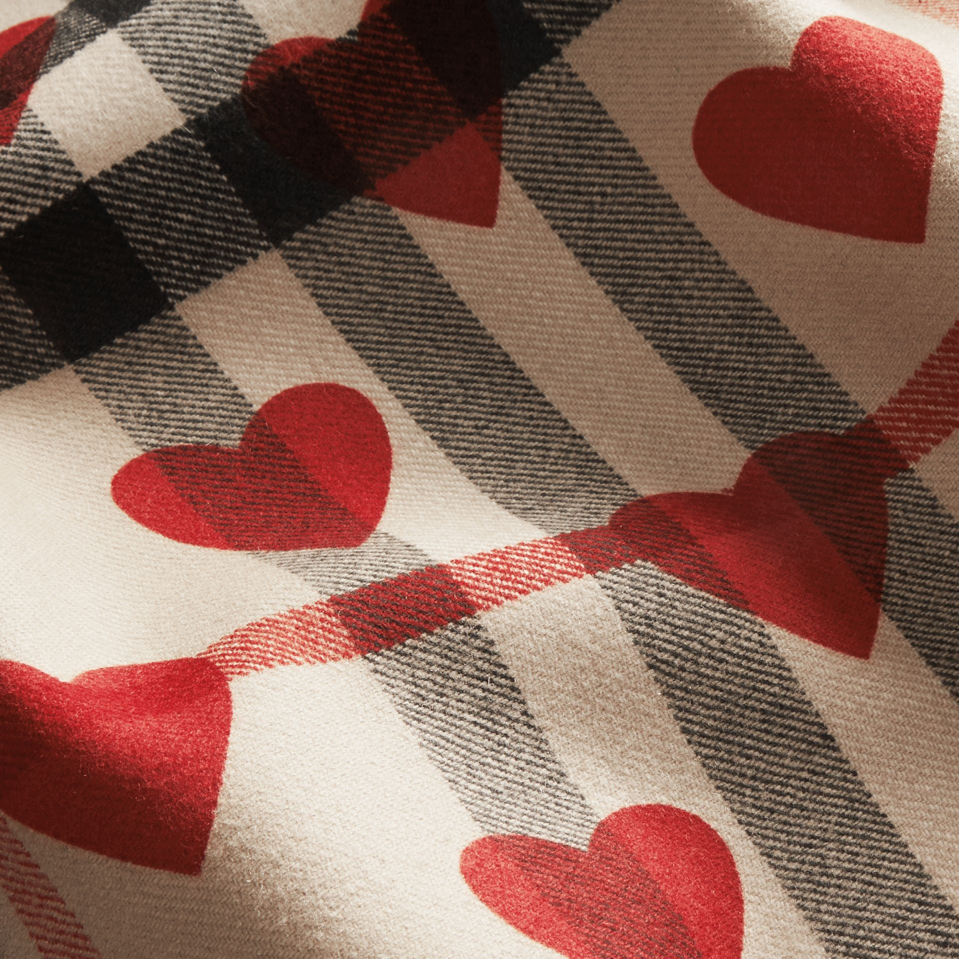 Windsor red Wool Duffle Coat with Check and Hearts Lining Windsor Red - gallery image 2