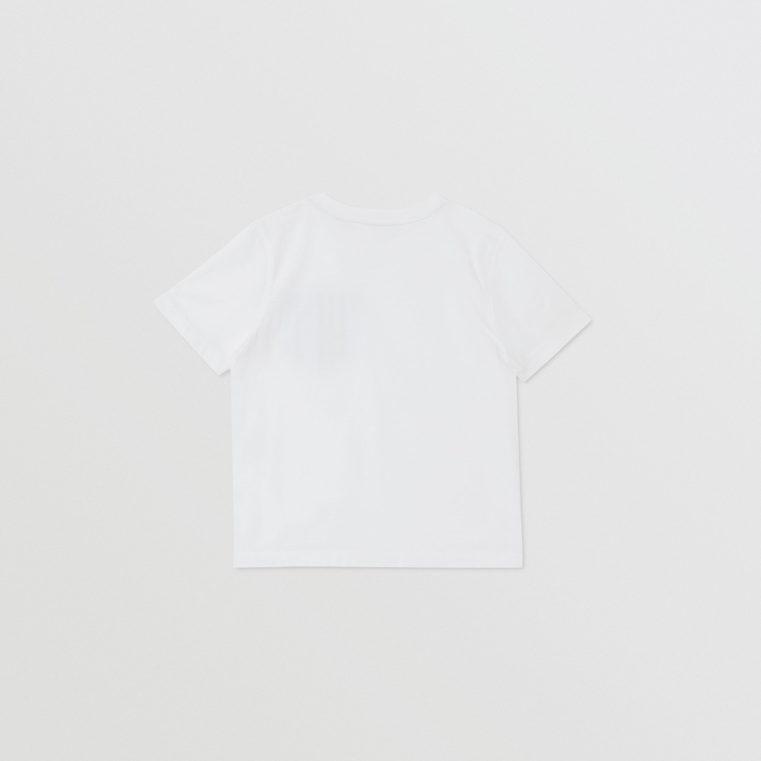 Icon Stripe Pocket Cotton T-shirt in White/pale Blue | Burberry - 4