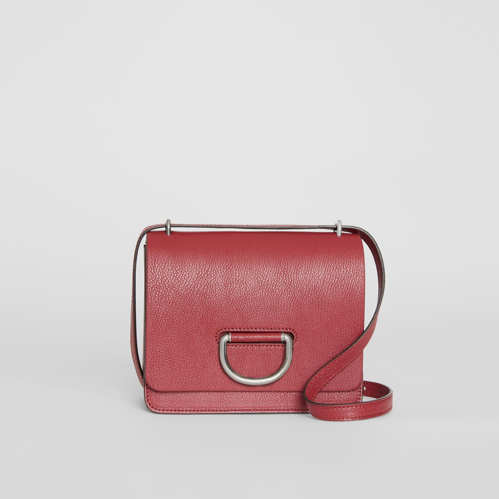 The Small Leather D-ring Bag in Crimson - Women | Burberry - gallery image 0