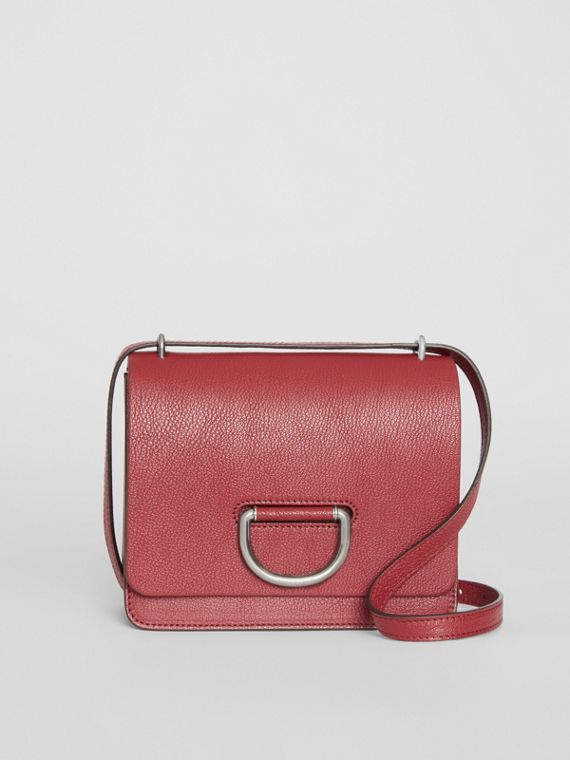 The Small Leather D-ring Bag in Crimson