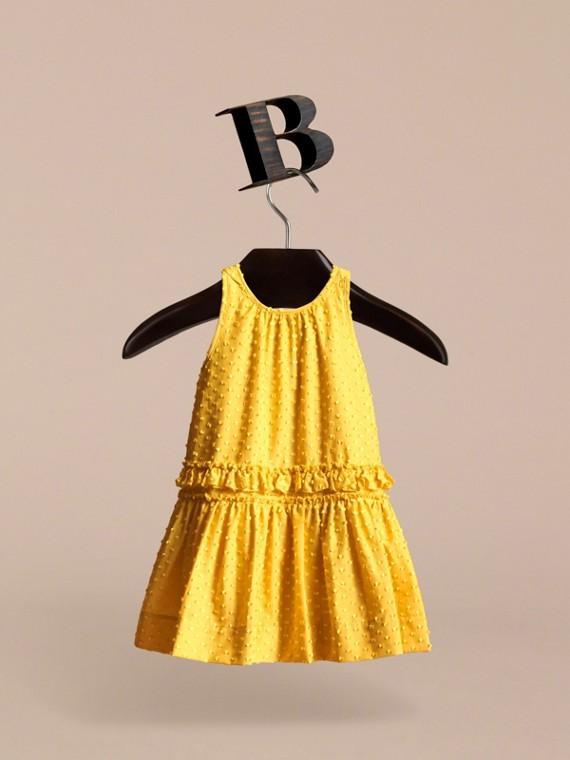 Dot Fil Coupé Cotton Silk Blend Dress - cell image 2