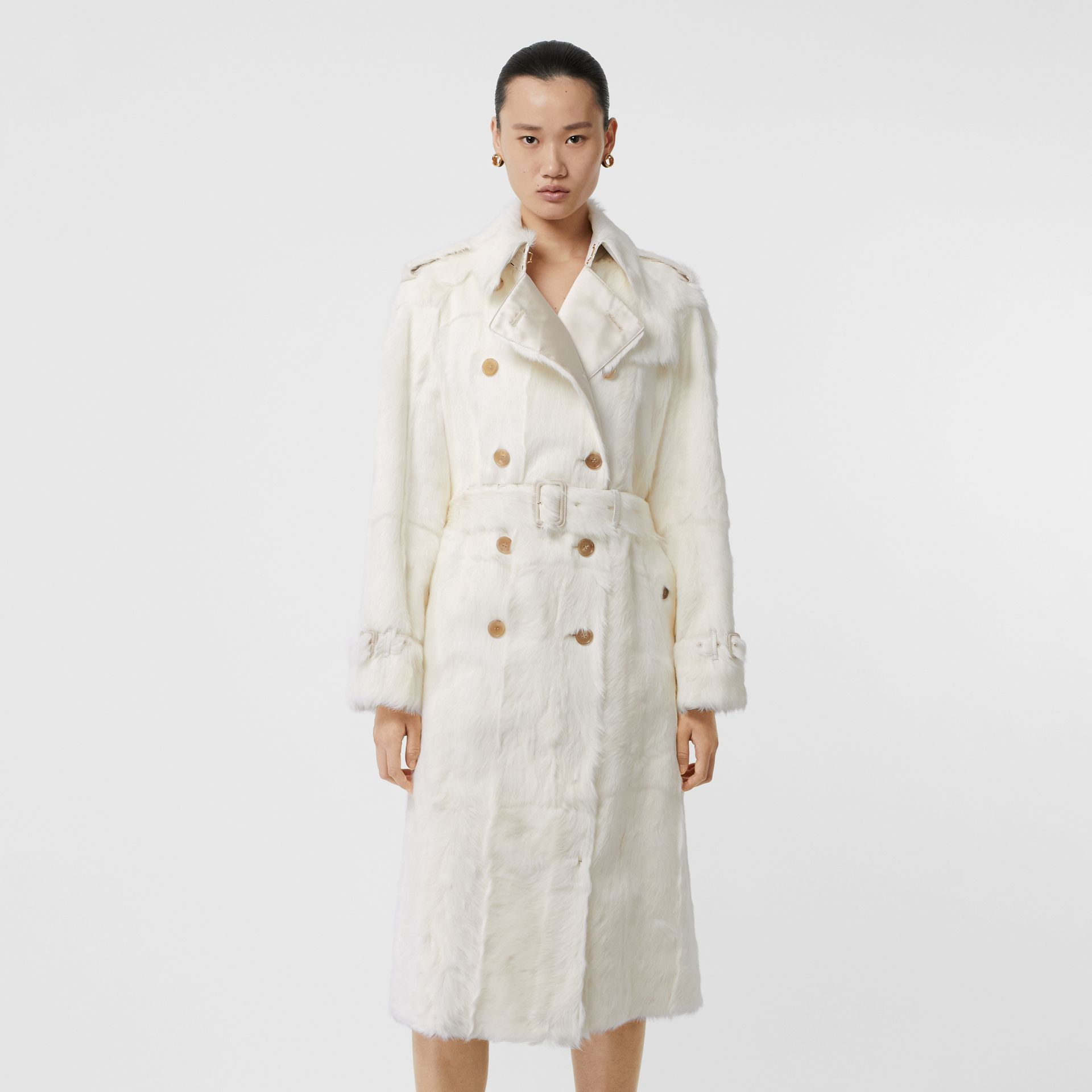 Goat Trench Coat in Ecru - Women | Burberry Singapore - gallery image 6